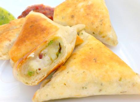 Tortilla Samosa - With Feta & Parsley Filling