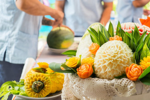 Fruit Carving Workshop -18:00pm - 21:00pm - FULLY BOOKED