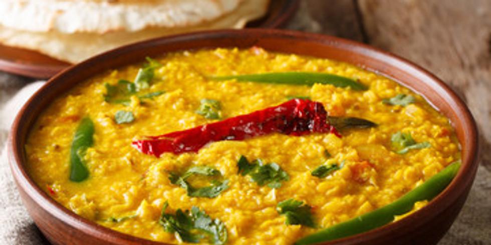 Live Cooking & Convo - Tarka Dhal & Naan Bread