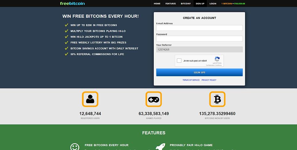 freebitco.ini account creation