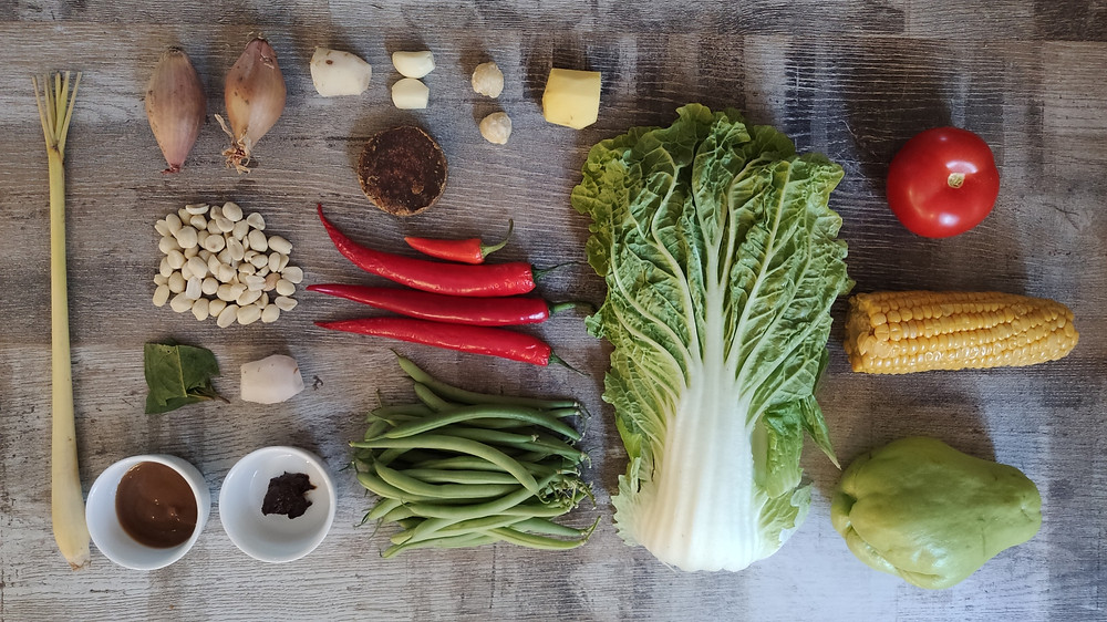 Sayur Asem ingredients