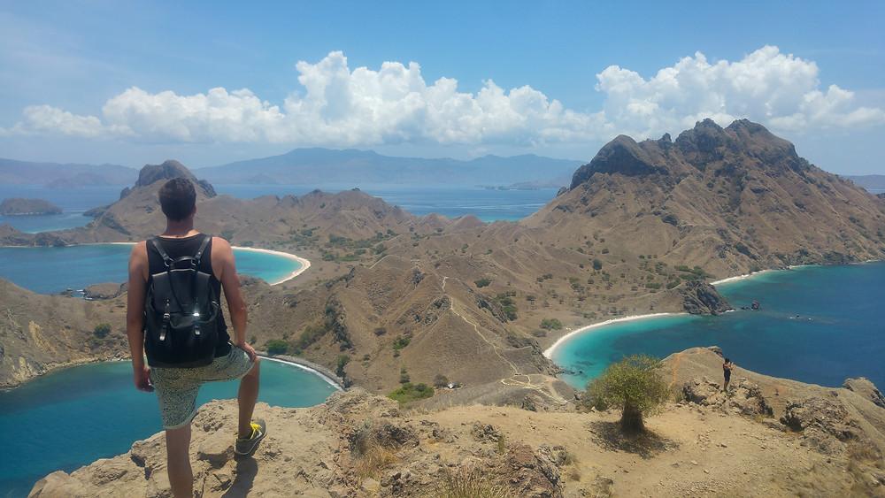 Padar island at Komodo archipelago, Flores, Indonesia