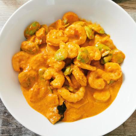 Sambal Goreng Udang Peteh (Indonesian fried chilli shrimp with peteh beans) Recipe