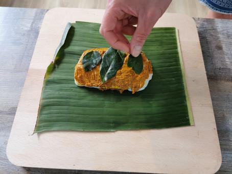 Ikan Pepesan (Indonesian steamed cod in banana leaf) Recipe