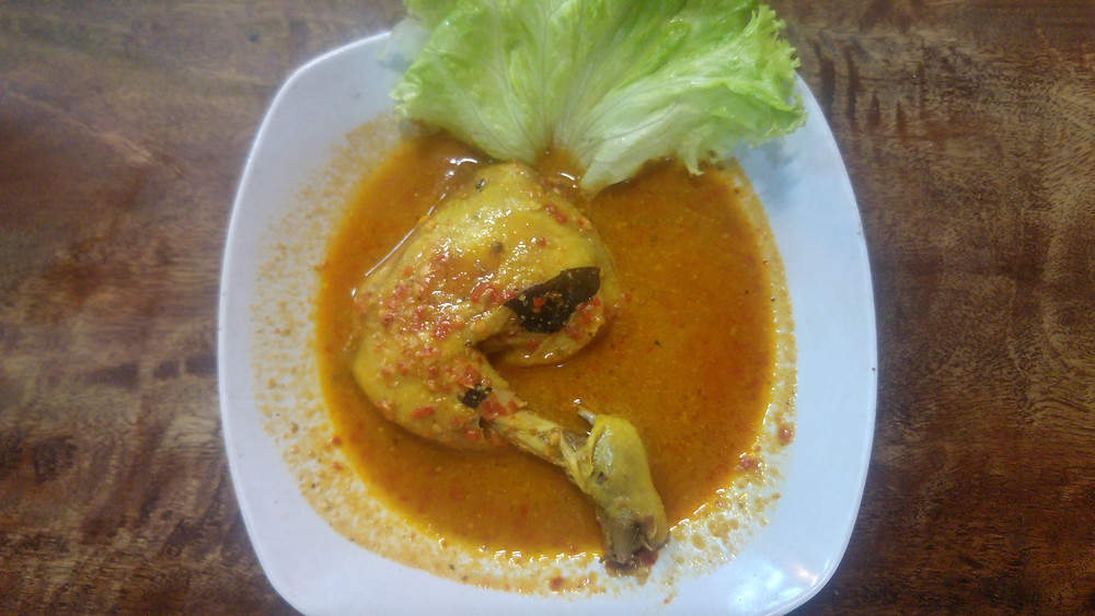 Ayam Rica hot and spicy chicken dish in Yogyakarta, Java, Indonesia