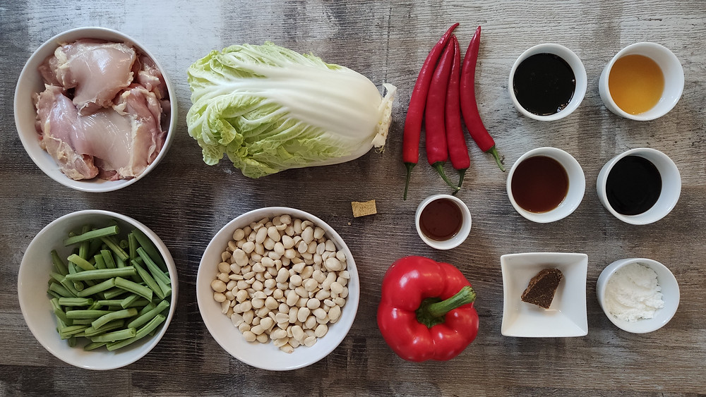 Indonesian Tumis Ayam Sayur Kacang recipe ingredients