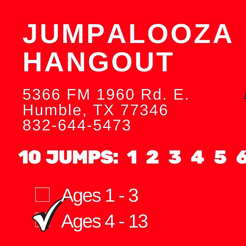 10 JUMP PASS - Ages 4-13