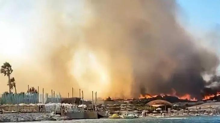 alaçatı orman yangını