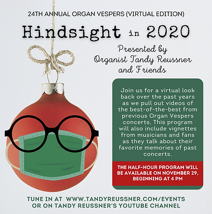Hindsight in 2020 Organ Vespers 2020 New