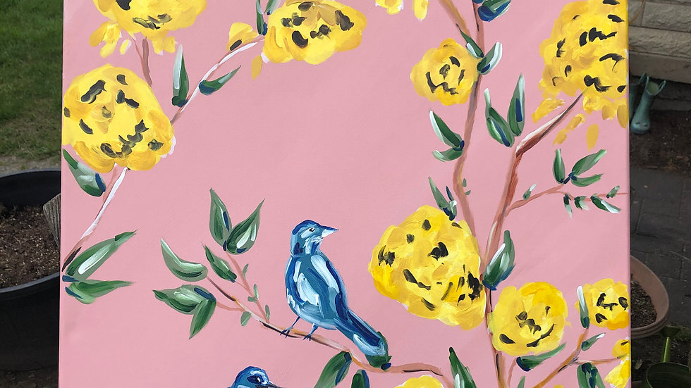 """""""Yellow Flowers and Blue Birds"""""""