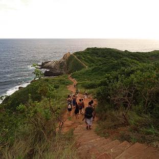 Walking to sacred place Punta Cometa