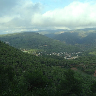 amazing view from the mountain in front