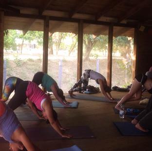 Morning Hatha Yoga practice