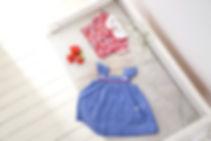 robe fleurit et robe vichy filette
