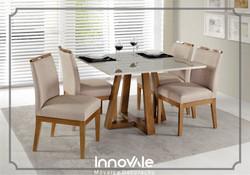 Sala de Jantar com 4 cadeiras Versa