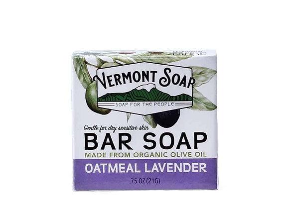 Oatmeal Lavender Travel Bar Soap, .75oz