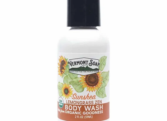 Lemongrass Zen Travel Body Wash 2oz