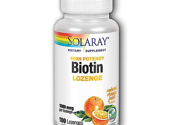 Biotin Lozenge 1000mcg, 100ct Orange flavor