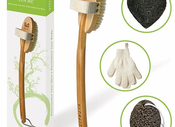 Exfoliating Dry Brush Set, LG