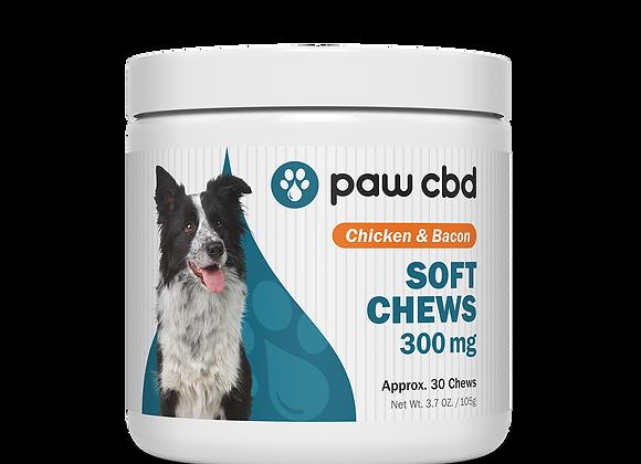 CBD Dog Soft Chews, 300mg 30ct Chicken & Bacon flavor