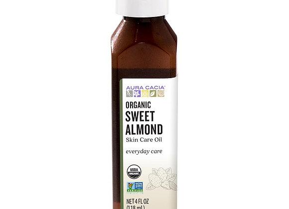 Sweet Almond Oil, Organic, 4oz skin care