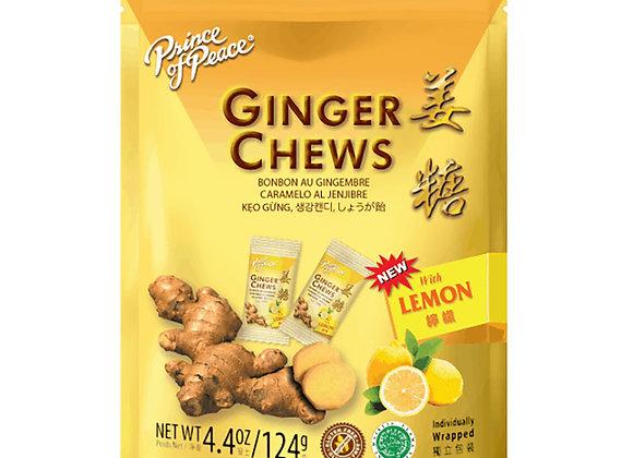 Ginger Chews, Lemon 4.4 oz