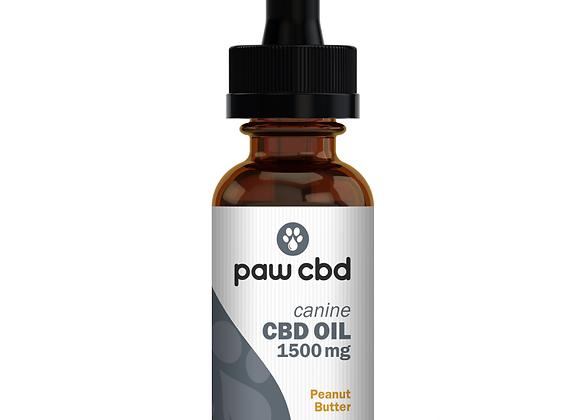 CBD Oil for Dogs 1500mg Peanut Butter flavor