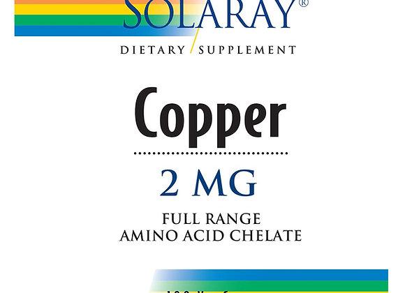 Copper 2mg 100ct