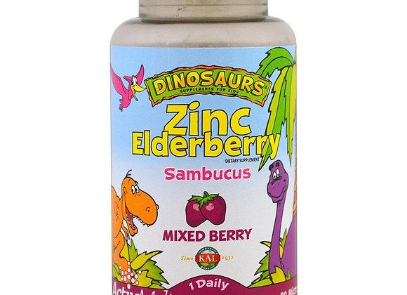 Dinosaurs Zinc Elderberry, 90ct Quick Melt tablets