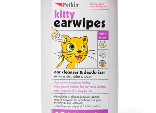 Kitty Ear Wipes, 40 count