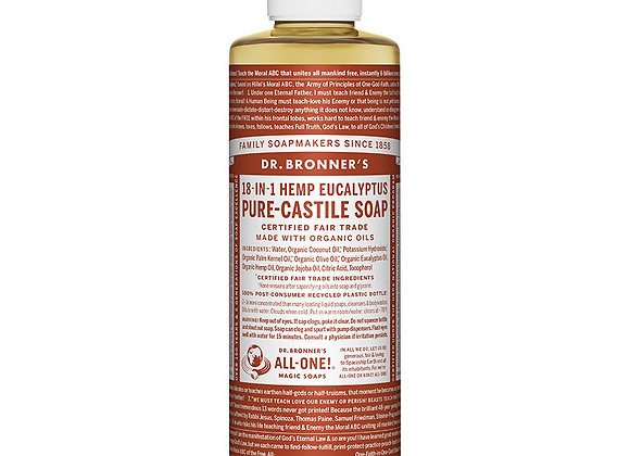 Castille Soap, Eucalyptus 8oz