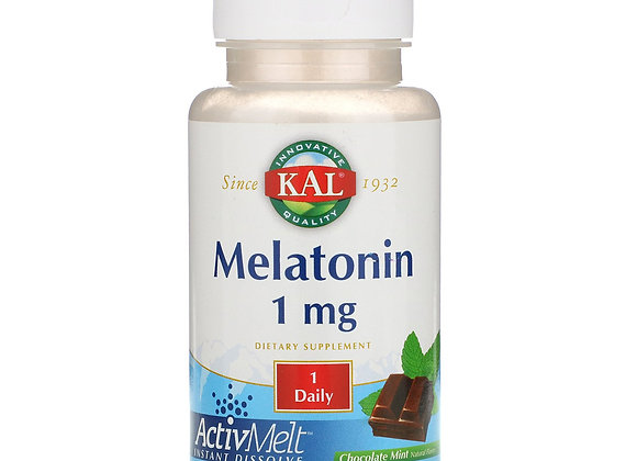Melatonin 1mg, Chocolate Mint, 90ct