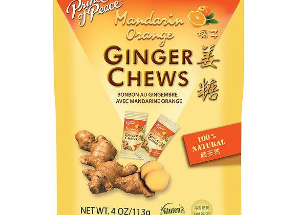 Ginger Chews, Mandarin Orange 3 oz