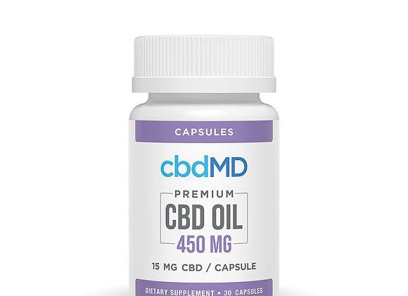 CBD Oil Capsules 450mg 30ct