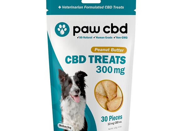 CBD Dog Treats 300mg, 30ct Peanut Butter flavor