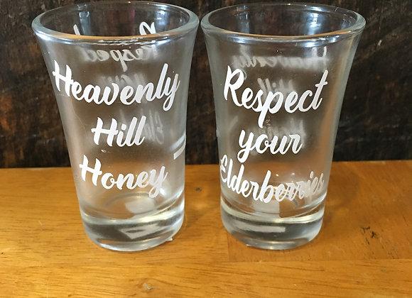 Elderberry Syrup Shot Glass