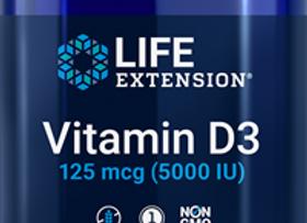 D3 125mcg (5000IU) 60ct