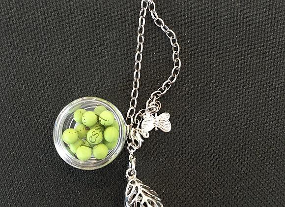 Essential Oil Diffuser Necklace, Leaf