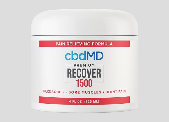 CBD Recover 1500mg 4oz tub