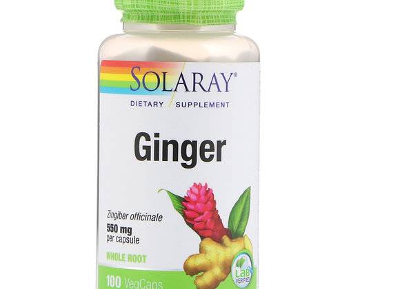 Ginger whole root 550mg, 100ct