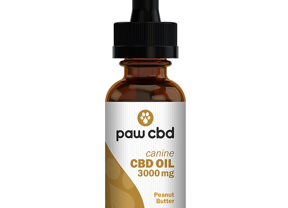 CBD Oil for Dogs 3000mg Peanut Butter flavor
