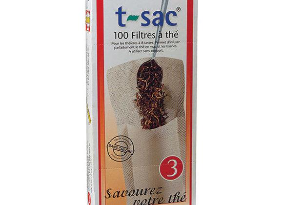 T-Sac #3 Tea filters, 100ct