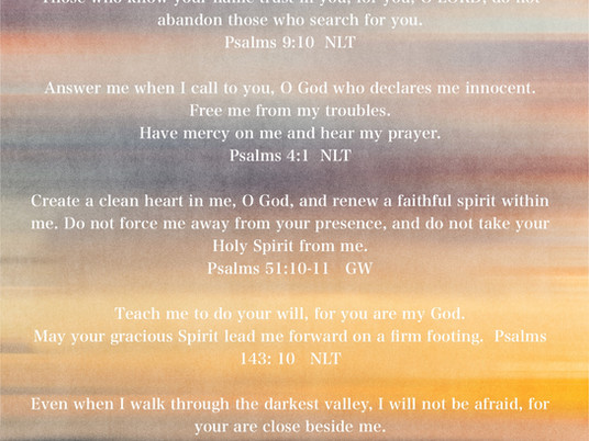 Prayers from the Psalms — Part One