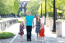 Image of Brady's family on Purdue campus