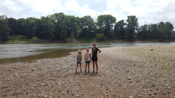 Image of Brady's family on the Wabash river
