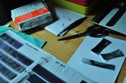 Darkroom desk detail
