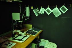 Darkroom in use
