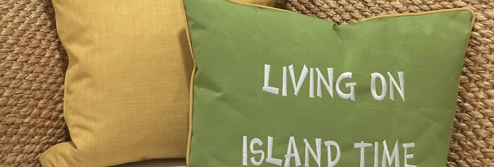 Solid Yellow Woven Throw Pillow