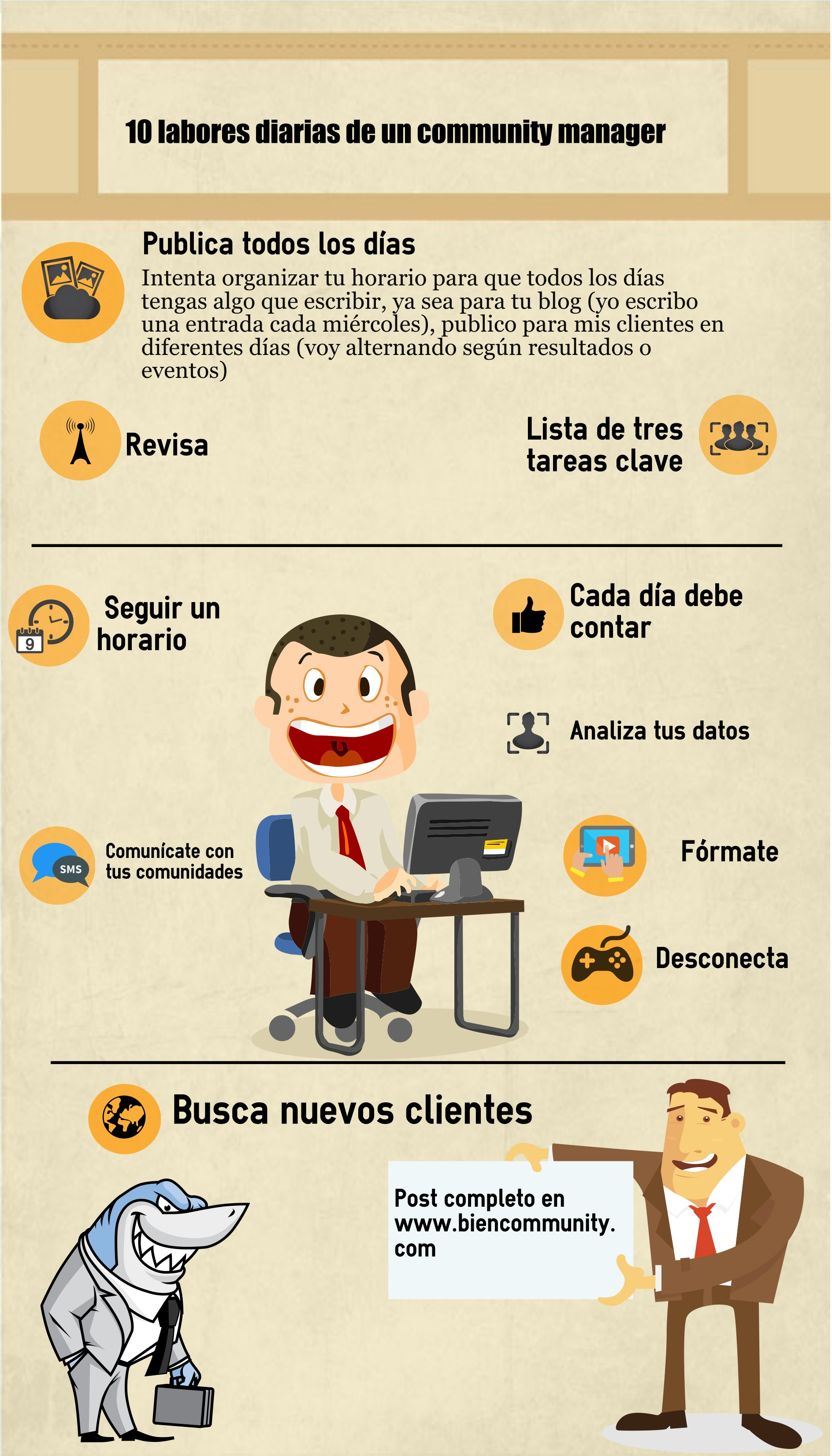 10 labores diarias de un community manager