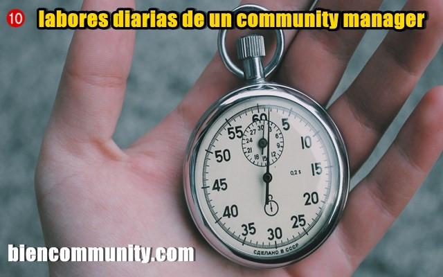 10 labores diarias de un community manager